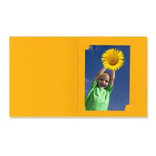 Passbildmappe mit Multischlitz für 3,5x4,5 und 6x8 cm - gelb gerippt Produktbild