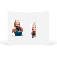 Passbildmappe mit Ausschnitt 32x42 mm & Tasche - weiß matt Produktbild
