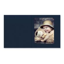 Bildermappe mit Multischlitz für 10x15, 13x18 und 15x20 cm - dunkelblau gerippt Produktbild