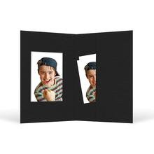 Passbildmappe mit Ausschnitt 32x42 mm & Tasche - schwarz matt Produktbild