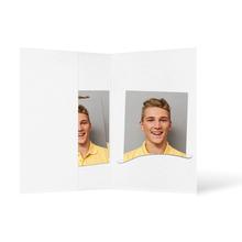 Passbildmappe mit Einsteckschlitz für 4,5x6 cm - weiß - Filzprägung Produktbild