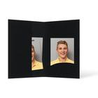 Passbildmappe mit Einsteckschlitz für 4,5x6 cm - schwarz - Filzprägung Produktbild