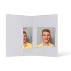Passbildmappe mit Einsteckschlitz für 4,5x6 cm - grau - Filzprägung Produktbild