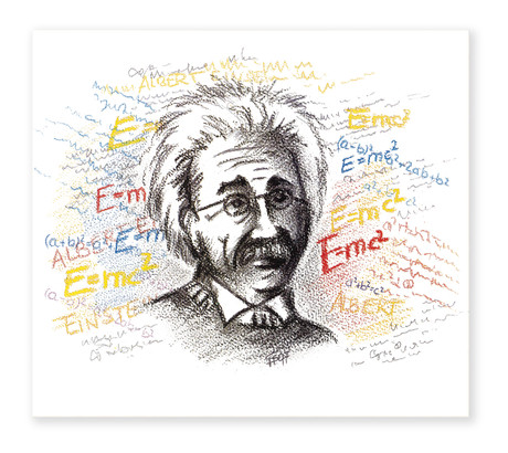 3 tlg. Schulfotomappe / Kindergartenmappe für 13x18 cm mit Fototasche - Einstein Produktbild