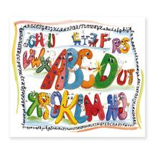 3 tlg. Schulfotomappe / Kindergartenmappe für 13x18 cm mit Fototasche - ABC Produktbild