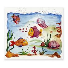 2 tlg. Fotomappe / Kindergartenmappe für 13x18 cm mit Einsteckschlitz - Aquarium Produktbild
