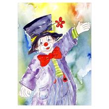 2 tlg. Schulfotomappe / Kindergartenmappe für 20x30 cm mit Fototasche ohne Passepartout -  Clown Produktbild