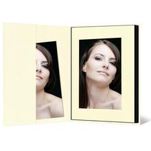 Leporello-Hülle aus Karton - creme gerippt - für Leporellos bis 16x21,5 cm Außengröße Produktbild