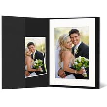 Leporello-Hülle aus Karton - schwarz matt - für Leporellos bis 16x21,5 cm Außengröße Produktbild