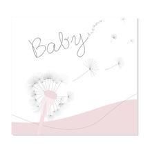 "3 tlg. Fotomappe / Babymappe mit 3 Passepartouts (quer-hoch-quer) für 13x18 cm - ""Babydreams rosa"" Produktbild"
