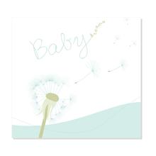 """3 tlg. Fotomappe / Babymappe mit 3 Passepartouts (hoch-quer-hoch) für 13x18 cm - """"Babydreams hellblau"""" - SALE Produktbild"""