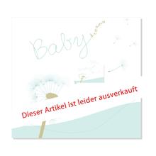 """3 tlg. Fotomappe / Babymappe mit 3 Passepartouts (quer-hoch-quer) für 13x18 cm - """"Babydreams hellblau"""" - SALE Produktbild"""