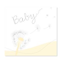 """3 tlg. Fotomappe / Babymappe mit 3 Passepartouts (hoch-quer-hoch) für 13x18 cm - """"Babydreams gelb"""" Produktbild"""