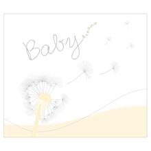 """2 tlg. Fotomappe / Babymappe für 13x18 cm mit Einsteckschlitz - """"Babydreams gelb"""" Produktbild"""