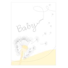 3 tlg. Babymappe mit 4 Passepartouts für 13x18 cm ohne Fototasche - Babydreams gelb Produktbild