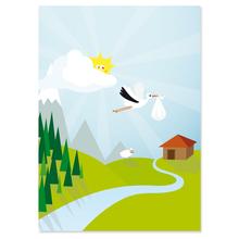 2 tlg. Fotomappe / Kindergartenmappe für 20x30 cm mit Fototasche - Storch Produktbild