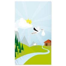 "Baby-Passepartoutkarte ""Storch"" Produktbild"