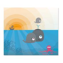 2 tlg. Fotomappe / Kindergartenmappe für 13x18 cm mit Einsteckschlitz - Wale Produktbild