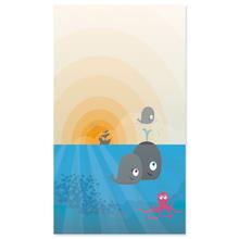 """Baby-Passepartoutkarte """"Wale"""" Produktbild"""