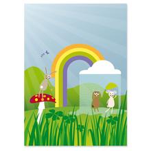 2 tlg. Fotomappe / Kindergartenmappe für 20x28 cm mit Fototasche - Happy day Produktbild
