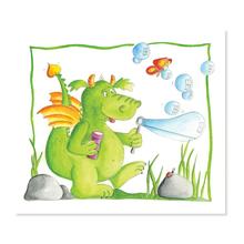 2 tlg. Fotomappe / Kindergartenmappe für 13x18 cm mit Einsteckschlitz - Drache Produktbild