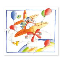 2 tlg. Fotomappe / Kindergartenmappe für 13x18 cm mit Einsteckschlitz - Flugzeug Produktbild