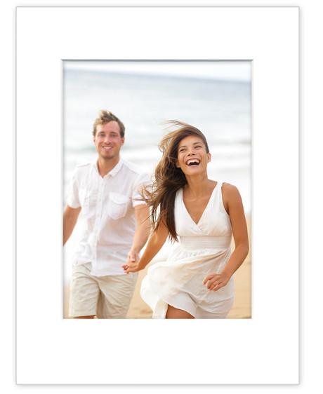 Strong photo mat for 20x30 cm - white mat - white core - white back ...
