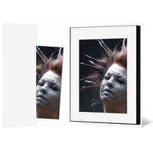 Leporello-Hülle aus Karton - weiß glänzend - für Leporellos bis 18,5x24,5 cm Außengröße Produktbild