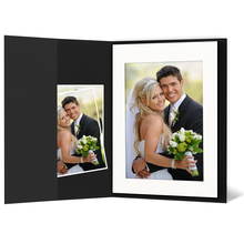 Leporello-Hülle aus Karton -schwarz matt - für Leporellos bis 18,5x24,5 cm Außengröße Produktbild