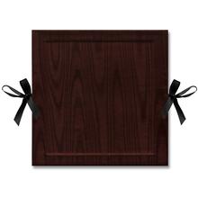 "Leporello-Einbanddeckel, 2 tlg. mit Satinschleife ""Moiré Deluxe"" Produktbild"