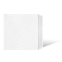 Leporello-Unterlage für 33X33 cm / für 20x30 cm - weiß - 100 Teile Produktbild