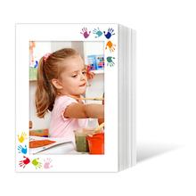 Endlosleporello für 13x18 cm - weiß - weiß mit 4-farbigem Druck Hände - 50 Teile  Produktbild