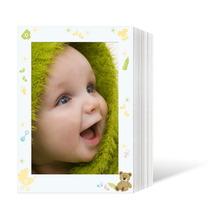 Endlosleporello für 13x18 cm - weiß - weiß mit 4-farbigem Druck Babysachen - 100 Teile  Produktbild