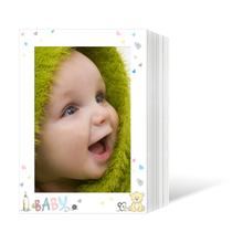 Endlosleporello für 13x18 cm - weiß - weiß mit 4-farbigem Druck Baby - 50 Teile  Produktbild