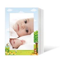 Endlosleporello für 13x18 cm - weiß - weiß mit 4-farbigem Druck Honigbär - 50 Teile  Produktbild