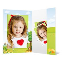 Portraitmappe mit Tasche für 13x18 cm - Motivdruck Honigbär Produktbild