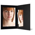 Portraitmappen mit Tasche für 13x18 cm schwarz ohne Rand - 100 Stück Produktbild