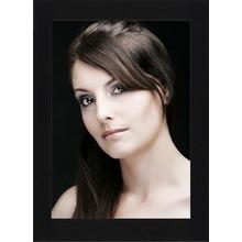 Einzelpassepartout für 13x18 cm - schwarz - ohne Umrandung - mit Rückwand Produktbild