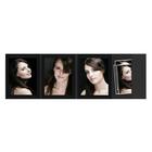 4-teilige Portraitmappen mit Tasche für 13x18 cm schwarz ohne Rand Produktbild