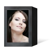 Endlosleporello für 13x18 cm - schwarz - schwarz/silber Maske - silber Rand - 100 Teile  Produktbild