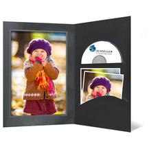 DVD/CD Fotomappe für 13x18 cm - schwarz - silber/schwarze Maske - Silberrand Produktbild