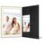 Portraitmappe mit Tasche für 13x18 cm- schwarz - creme gerippte Maske Produktbild Front View 2XS