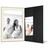Portraitmappe mit Tasche für 13x18 cm- schwarz - creme gerippte Maske Produktbild Additional View 2 2XS