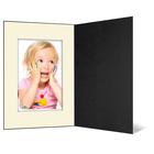 Eventmappe ohne Tasche für 13x18 cm - schwarz  - creme gerippte Maske Produktbild