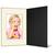 Eventmappe ohne Tasche für 13x18 cm - schwarz  - creme gerippte Maske Produktbild Front View 2XS