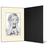 Eventmappe ohne Tasche für 13x18 cm - schwarz  - creme gerippte Maske Produktbild Additional View 2 2XS