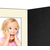 Eventmappe ohne Tasche für 13x18 cm - schwarz  - creme gerippte Maske Produktbild Additional View 4 2XS