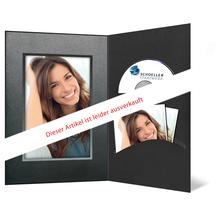 DVD/CD Fotomappe für 13x18 cm - schwarz - silber schwarze Maske- Silberverlaufsrand Produktbild