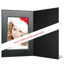 Eventmappe ohne Tasche für 13x18 cm - schwarz matt - silber/schwarze Maske - silber Verlauf Rand Produktbild