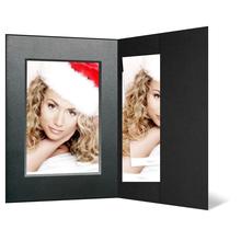 Portraitmappe mit Tasche für 15x20 cm - schwarz - silber/schwarz Maske Produktbild